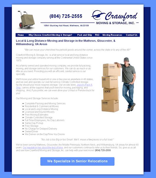 Crawford Moving And Storage Mathews Va